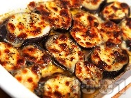 Рецепта Запечени патладжани със сирене моцарела на фурна